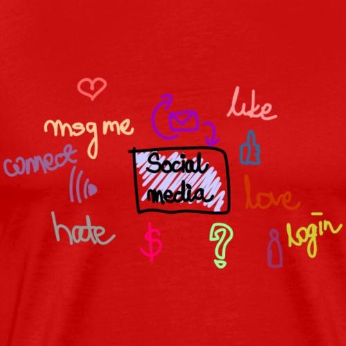 social media - Maglietta Premium da uomo