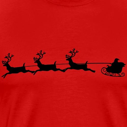 Weihnachtspullover - Santas Schlitten - Männer Premium T-Shirt