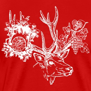 Black Forest Hirsch, PM, vindruvor - Premium-T-shirt herr