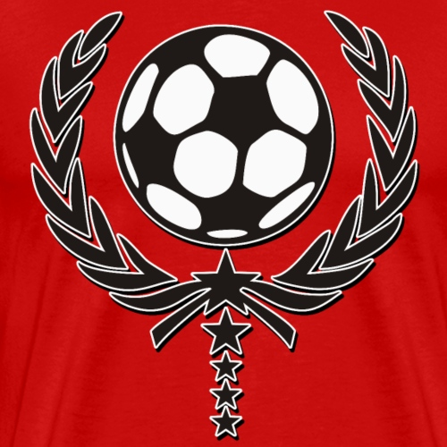 Fussball Lorbeerkranz 5 Sterne Team 1 - Männer Premium T-Shirt
