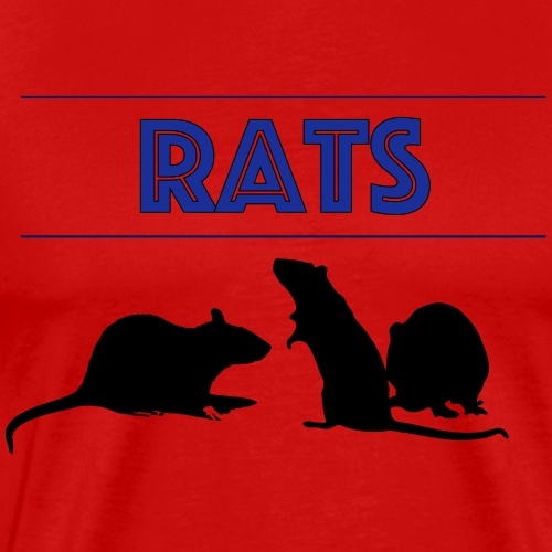Rats With Rats' Silhouette - Men's Premium T-Shirt