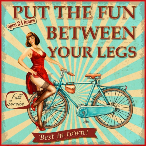 Fahrrad - Put the fun between your legs - Männer Premium T-Shirt