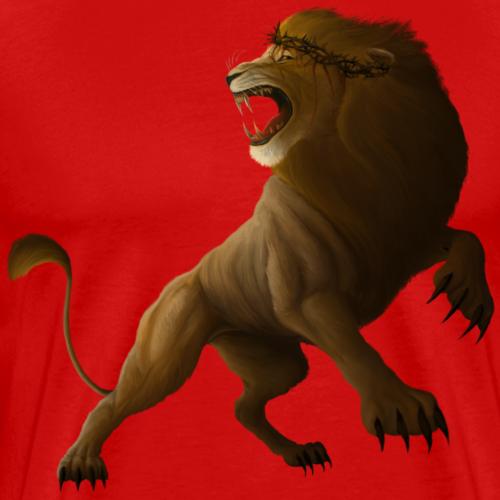 The Lion and the Lamb 2 (just Lion) - Men's Premium T-Shirt