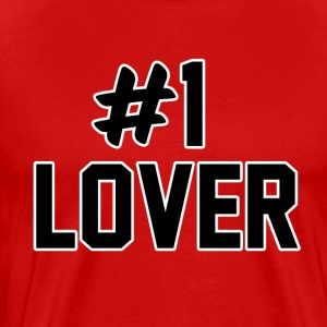 #1 LOVER - Premium T-skjorte for menn