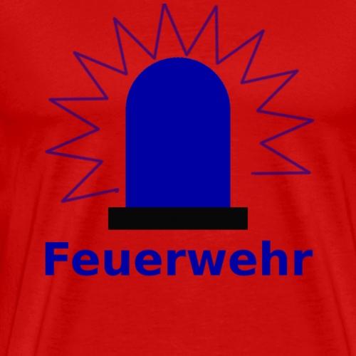 Blaulicht Feuerwehr - Männer Premium T-Shirt