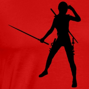 Ninja / Samurai / Assasin with sword as a gift - Men's Premium T-Shirt