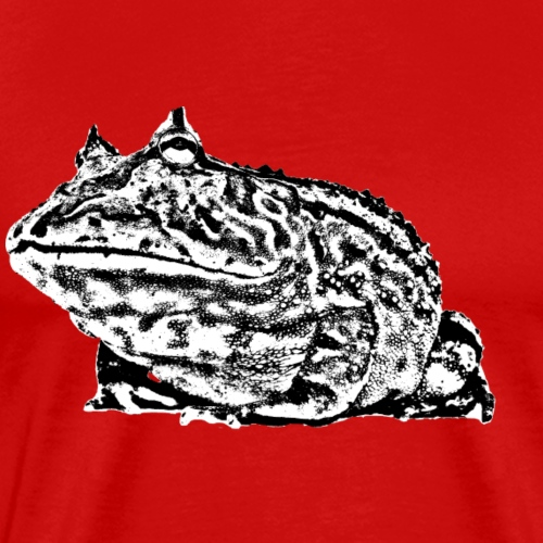 Black and white Fantasy frog - Mannen Premium T-shirt