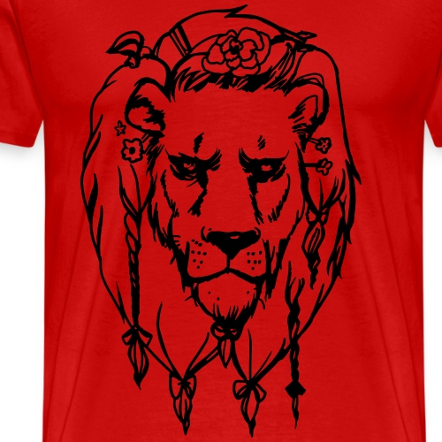 Lion Dad - Löwen Papa - Männer Premium T-Shirt