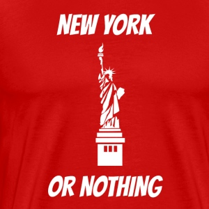 New York eller ingenting Statue of Liberty - Premium T-skjorte for menn