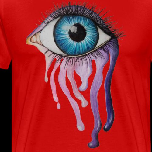 Tęczowe oko - Koszulka męska Premium