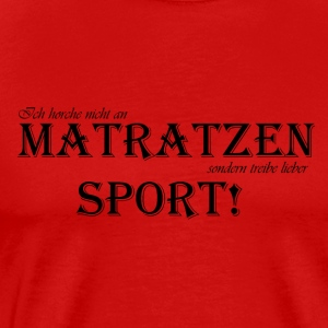 tobejo.de - Matratzensport - svart - Premium T-skjorte for menn