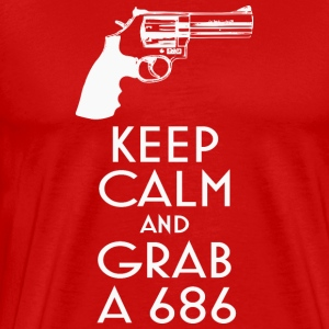 Keep Calm and Grab a 686 revolver t-shirt - Men's Premium T-Shirt