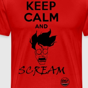 Keep calm and scream - T-shirt Premium Homme