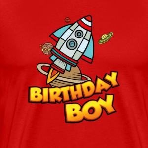 Birthday Boy Weltraumfahrer - Premium T-skjorte for menn