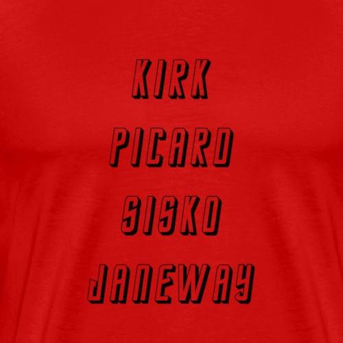 Star Trek Kirk Picard - Männer Premium T-Shirt
