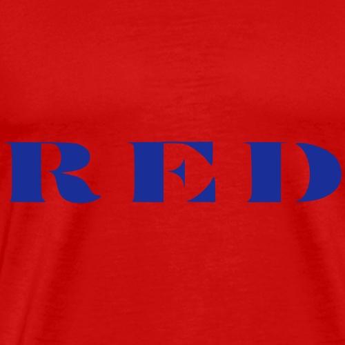 Red in Blau - Männer Premium T-Shirt