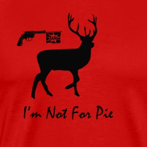 No Hunting Christmas Deer - Men's Premium T-Shirt