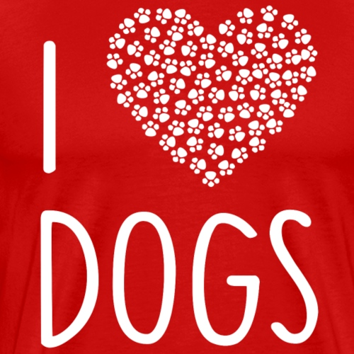 ++I LOVE DOGS++ - Männer Premium T-Shirt