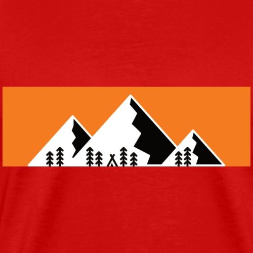 Camping Berge Wandern Mountain - Männer Premium T-Shirt