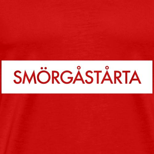 Vit smörgåstårta - Premium-T-shirt herr