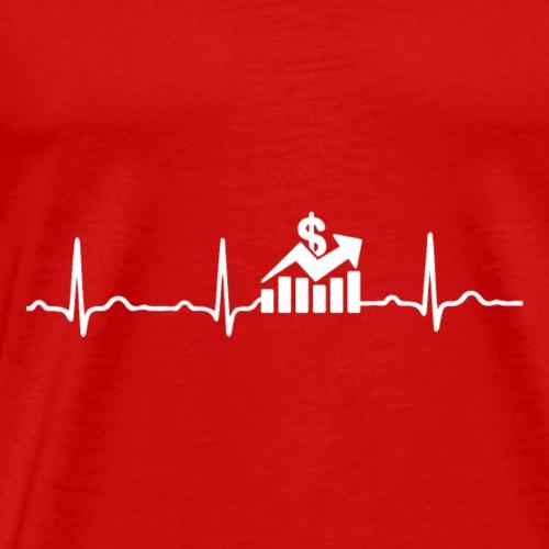 EKG HERZSCHLAG Börse - Kryptowährung - Männer Premium T-Shirt
