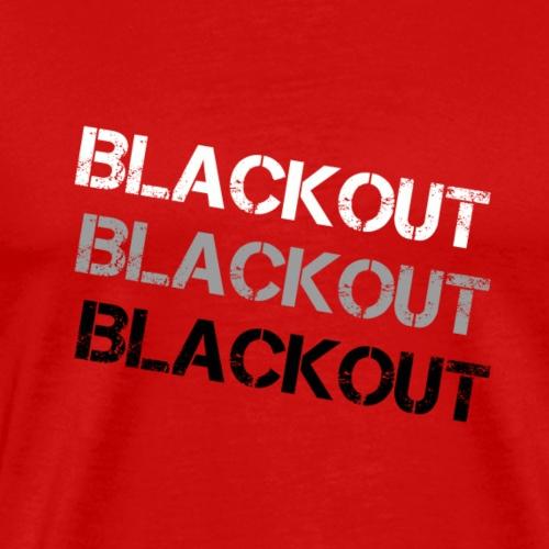 Blackout Fade - Premium-T-shirt herr
