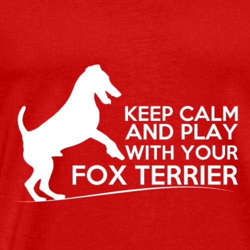 FOX KEEP CALM WHITE - T-shirt Premium Homme
