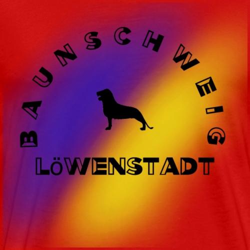 Braunschweig Loewenstadt blau gelb - Männer Premium T-Shirt