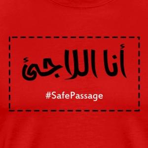 I am the Refugee- Arabic - Premium T-skjorte for menn