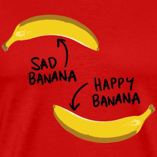 Happy Banana and Sad Banana - Männer Premium T-Shirt