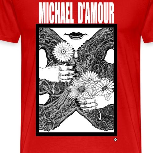 Michael D'Amour Fleur blanc édition limitée - T-shirt Premium Homme