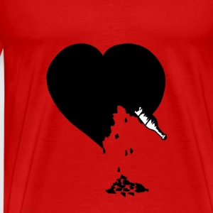destroyed heart - T-shirt Premium Homme