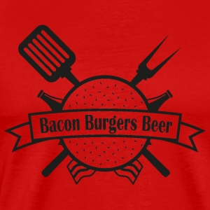 Bacon Burgers Beer - Premium T-skjorte for menn