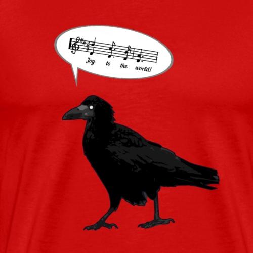 Crow singing Joy to the world by Handel - Mannen Premium T-shirt