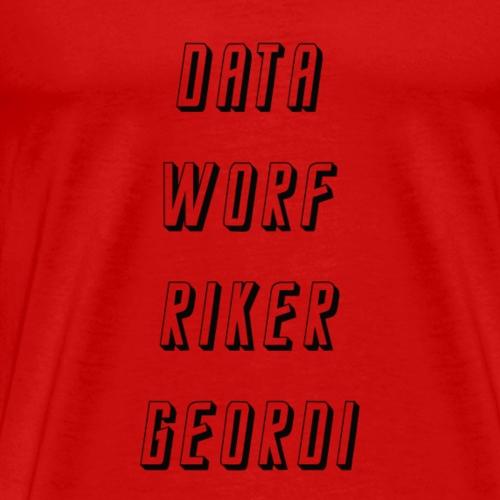 Star Trek Worf Data Riker Geordi - Männer Premium T-Shirt