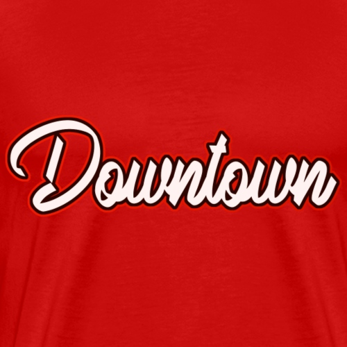 Downtown red - Männer Premium T-Shirt