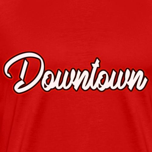 Downtown red - Männer Premium T-Shirt