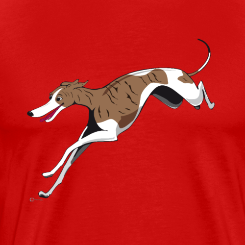 Driva the Whippet - Premium-T-shirt herr