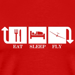 Eat Sleep Fly Répéter - T-shirt Premium Homme