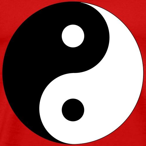 Yin und Yang (Farben anpassbar!) - Männer Premium T-Shirt