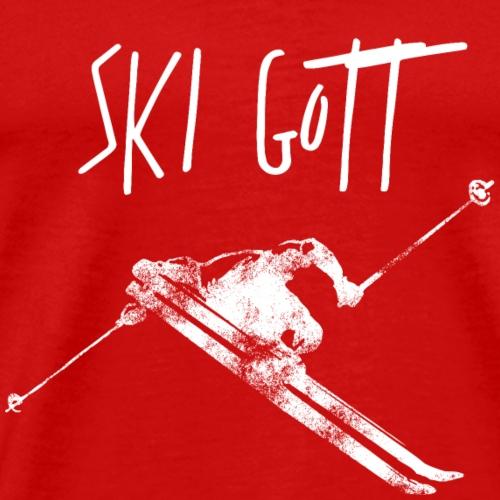 Ski Gott wintersport - Männer Premium T-Shirt