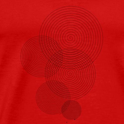 Mehrfach Spirale - Männer Premium T-Shirt