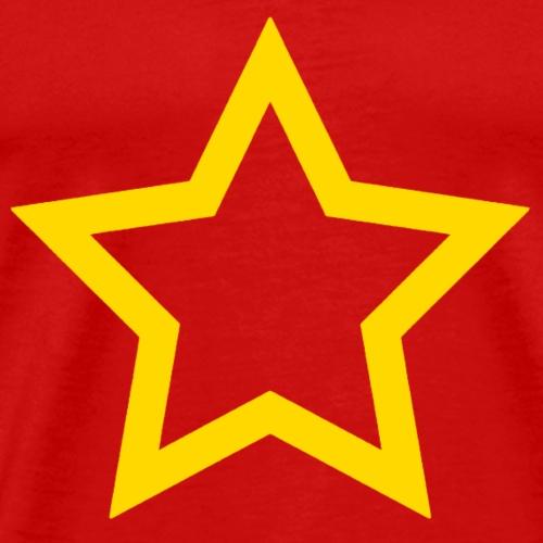 gelber Stern - Männer Premium T-Shirt