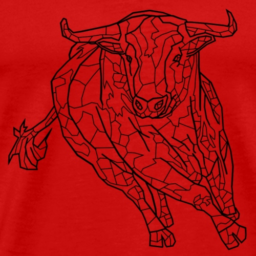 Rasender Stier - Männer Premium T-Shirt