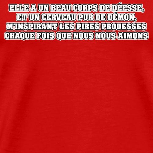 DÉESSE ET DÉMON - Poème - Francois Ville - T-shirt Premium Homme