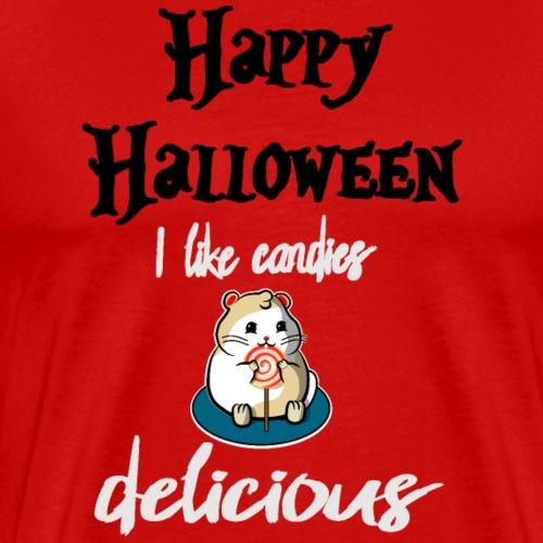 Halloween Hamster Ich mag Süsigkeiten, LECKER! Nr2 - Männer Premium T-Shirt