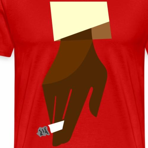 Hand mit Kippe - Männer Premium T-Shirt