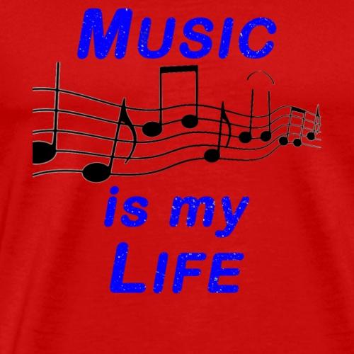 music is my life blau - Männer Premium T-Shirt