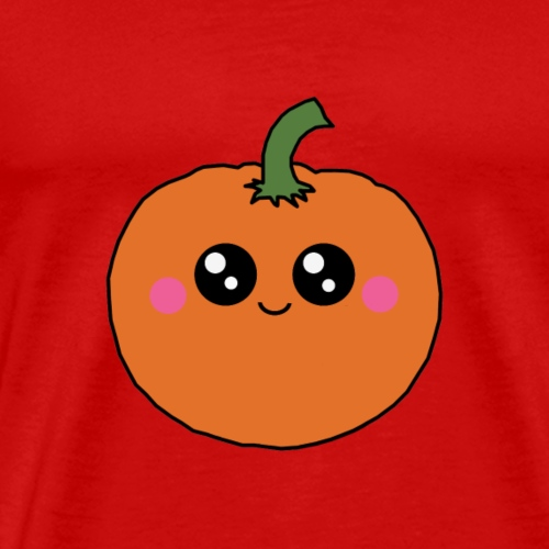 Kawaii Pumpkin - Cute Jack-O-Lantern Halloween - Herre premium T-shirt