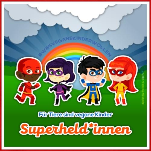 Für Tiere sind vegane Kinder Superheld*innen! - Männer Premium T-Shirt